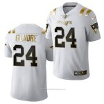 Camiseta NFL Limited New England Patriots Stephon Gilmore Golden Edition 2020 Blanco