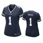 Camiseta NFL Game Mujer Dallas Cowboys Ben Dinucci Azul