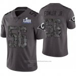 Camiseta NFL Limited Hombre Los Angles Rams Dante Fowler Jr. Gris Super Bowl LIII
