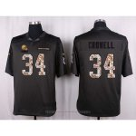 Camiseta Cleveland Browns Crowell Apagado Gris Nike Anthracite Salute To Service NFL Hombre