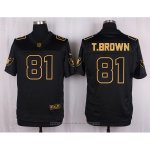 Camiseta Oakland Raiders T.Brown Negro Nike Elite Pro Line Gold NFL Hombre