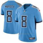Camiseta NFL Limited Hombre Tennessee Titans 8 Marcus Mariota Azul Stitched Vapor Untouchable