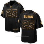 Camiseta Pittsburgh Steelers Burns Negro 2016 Nike Elite Pro Line Gold NFL Hombre