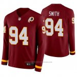 Camiseta NFL Hombre Washington Redskins Preston Smith Burgundy Therma Manga Larga