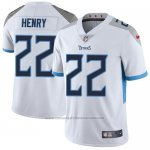Camiseta NFL Limited Hombre Tennessee Titans 22 Derrick Henry Blanco Stitched Vapor Untouchable