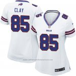 Camiseta Buffalo Bills Clay Blanco Nike Game NFL Mujer