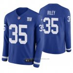Camiseta NFL Hombre New York Giants Curtis Riley Azul Therma Manga Larga