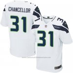 Camiseta Seattle Seahawks Chancellor Blanco Nike Elite NFL Hombre