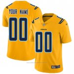 Camiseta NFL Legend Los Angeles Chargers Personalizada Amarillo