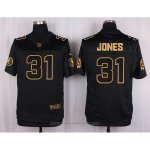 Camiseta Washington Redskins Jones Negro Nike Elite Pro Line Gold NFL Hombre