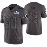 Camiseta NFL Limited Hombre Los Angeles Rams Ndamukong Suh Gris Super Bowl LIII