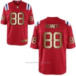 Camiseta New England Patriots Bennett Rojo Nike Gold Game NFL Hombre