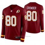 Camiseta NFL Hombre Washington Redskins Jamison Crowder Burgundy Therma Manga Larga