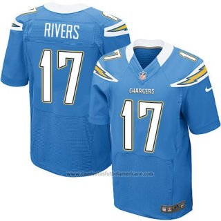 Camiseta San Diego Chargers Rivers Azul Nike Elite NFL Hombre