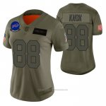 Camiseta NFL Limited Mujer Buffalo Bills Dawson Knox 2019 Salute To Service Verde