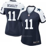 Camiseta Dallas Cowboys Beasley Negro Blanco Nike Game NFL Mujer