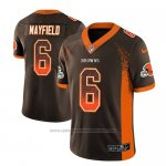 Camiseta NFL Limited Cleveland Browns Baker Mayfield Marron 2018 Drift Fashion Color Rush