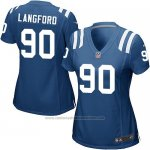 Camiseta Indianapolis Colts Langford Azul Nike Game NFL Mujer