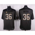 Camiseta Pittsburgh Steelers Bettis Apagado Gris Nike Anthracite Salute To Service NFL Hombre