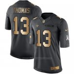 Camiseta New Orleans Saints Thomas Negro 2016 Nike Gold Anthracite Salute To Service NFL Hombre