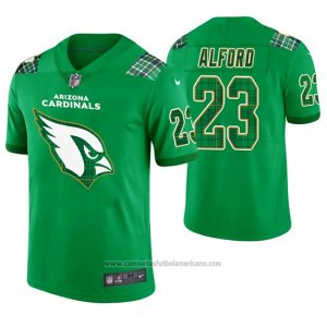 Camiseta NFL Limited Hombre Arizona Cardinals Robert Alford St. Patrick's Day Verde