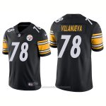 Camiseta NFL Limited Hombre 78 Villanueva Pittsburgh Steelers Negro Blanco