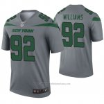 Camiseta NFL Legend New York Jets 92 Leonard Williams Inverted Gris