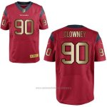 Camiseta Houston Texans Clowney Rojo Nike Gold Elite NFL Hombre