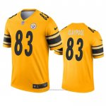 Camiseta NFL Legend Pittsburgh Steelers 83 Chase Claypool Inverted Oro