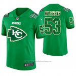 Camiseta NFL Limited Hombre Kansas City Chiefs Anthony Hitchens St. Patrick's Day Verde