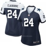 Camiseta Dallas Cowboys Claiborne Negro Blanco Nike Game NFL Mujer