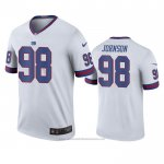 Camiseta NFL Legend New York Giants Austin Johnson Blanco Color Rush