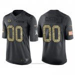 Camiseta NFL Limited Green Bay Packers Personalizada 2016 Salute To Service Negro