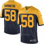 Camiseta Green Bay Packers Barrington Negro Amarillo Nike Game NFL Nino