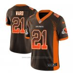 Camiseta NFL Limited Cleveland Browns Denzel Ward Marron 2018 Drift Fashion Color Rush