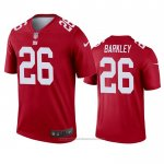 Camiseta NFL Legend New York Giants Saquon Barkley Inverted Rojo