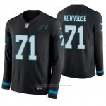 Camiseta NFL Hombre Carolina Panthers Marshall Newhouse Negro Therma Manga Larga
