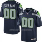 Camisetas NFL Limited Hombre Seattle Seahawks Personalizada Azul