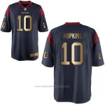 Camiseta Houston Texans Hopkins Profundo Azul Nike Gold Game NFL Hombre