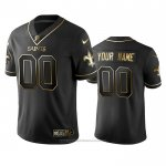 Camiseta NFL Limited New Orleans Saints Personalizada Golden Edition Negro