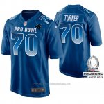 Camiseta NFL Hombre Carolina Panthers Trai Turner NFC 2019 Pro Bowl Azul
