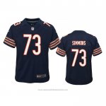 Camiseta NFL Game Nino Chicago Bears Lachavious Simmons Azul