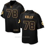 Camiseta Indianapolis Colts Kelly Negro 2016 Nike Elite Pro Line Gold NFL Hombre