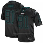 Camiseta NFL Elite Hombre Philadelphia Eagles 91 Fletcher Cox Negro