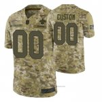 Camiseta NFL Limited New Orleans Saints Personalizada Salute To Service Verde