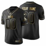 Camiseta NFL Limited Cleveland Browns Personalizada Golden Edition Negro
