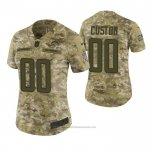 Camiseta NFL Limited Mujer Los Angeles Chargers Personalizada 2018 Salute To Service Verde