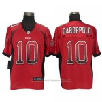 Camiseta NFL Elite Hombre San Francisco 49ers 10 Jimmy Garoppolo Drift Fashion Rojo