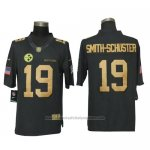 Camiseta NFL Gold Limited Hombre Pittsburgh Steelers 19 Smith-Schuster Negro