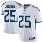 Camiseta NFL Limited Hombre Tennessee Titans 25 Adoree' Jackson Blanco Stitched Vapor Untouchable